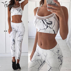 Marble Workout Top and Pant Set