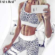 Leopard Print Workout Top and Pant Set