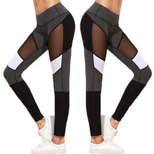 Black and Gray Mesh Leggings