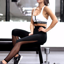 Black Mesh Workout Leggings