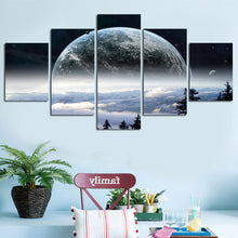 Earth in Space Five Piece Canvas