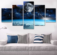 Moon in Space Five Piece Canvas