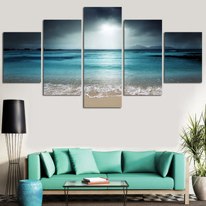 Ocean Storm Five Piece Canvas