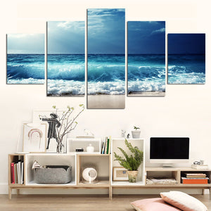 Blue Seas Five Piece Canvas