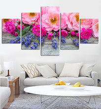Flower Set Five Piece Canvas