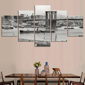 Vintage New York City Five Piece Canvas