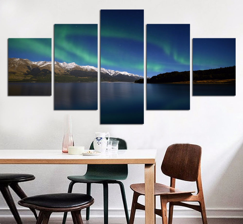 Aurora Borealis Five Piece Canvas