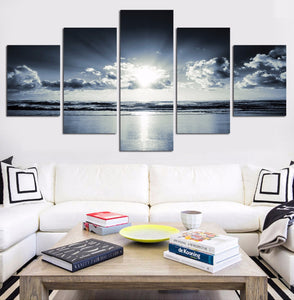 Ocean Clouds Five Piece Canvas