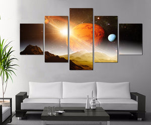 Red Planet Five Piece Canvas