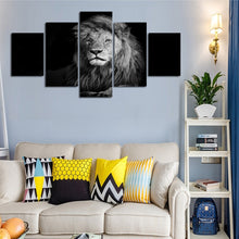 Black & White Lion Five Piece Canvas