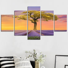 Secluded Tree Five Piece Canvas
