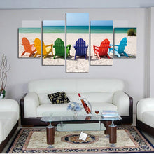 Beach Chairs Five Piece Canvas