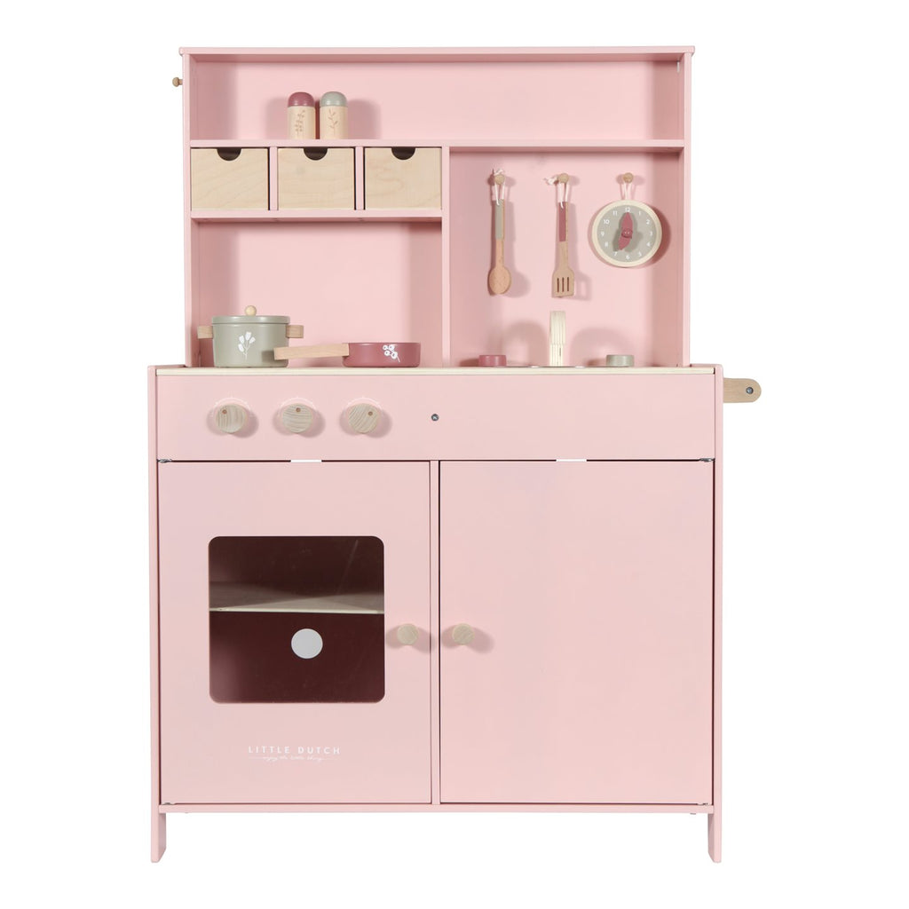 Wooden Play Kitchen - Pink