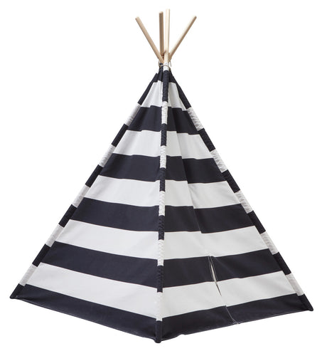 Kids Concept Black and White Tipi Tent