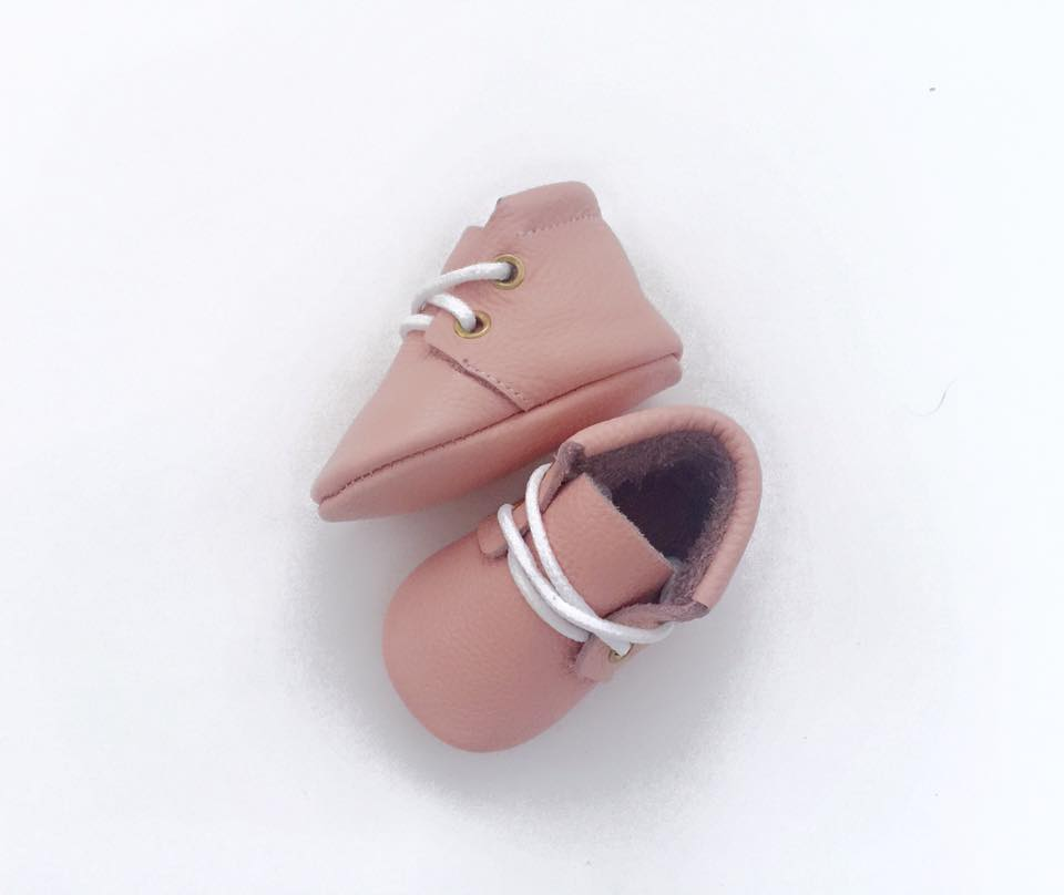 Baby Pink Leather Baby Boots