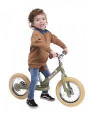 Trybike Steel- Balance Bike Vintage Green
