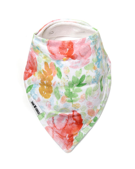 Summer Bloom Bandana Bib -100% Organic