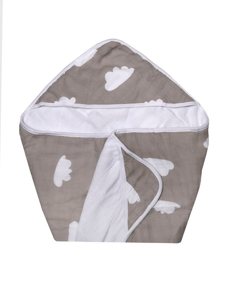 Double Layer Hooded Towel - Cloud