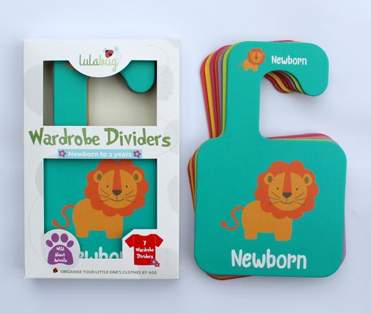 Lulabug Wardrobe Age Dividers - Newborn to 2 Years