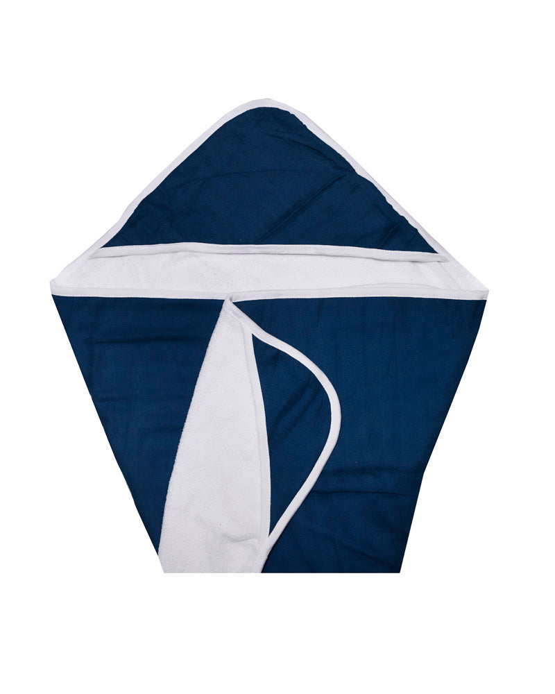 Double Layer Hooded Towel - Indigo