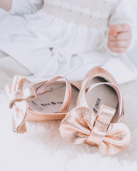 Rose Gold Ballerinas Pumps