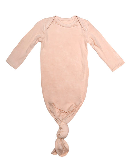 Newborn Knotted Sleep Gown: Blush