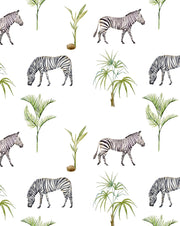 Zebra Palm Wallpaper - Custom Order