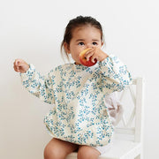 Cam Cam Sleeved Bib (recycled materials) - Pressed Leaves Rose
