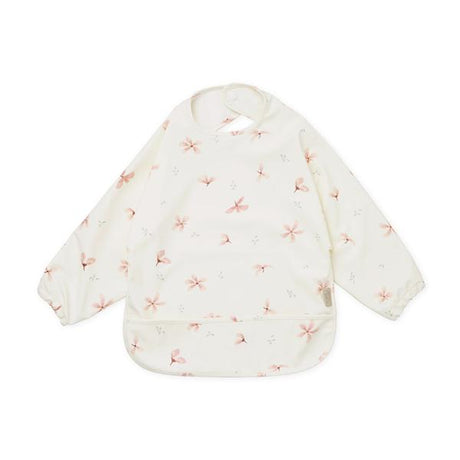 Cam Cam Long Sleeved Bib (recycled materials) - Windflower Creme