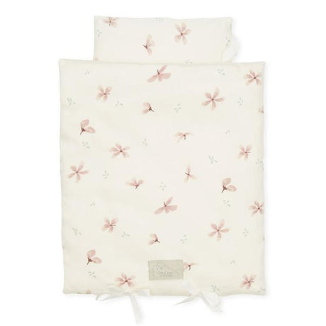 Cam Cam Doll's organic bed linen in Windflower