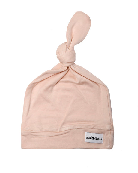 Top Knot Stretchy Hat - Blush