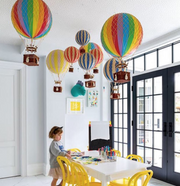 AUTHENTIC MODELS HOT AIR BALLOON RAINBOW