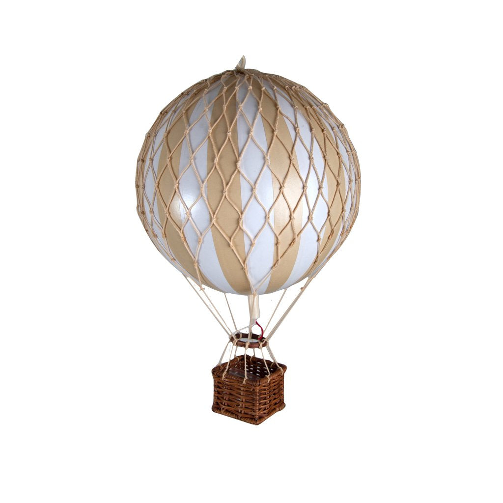 AUTHENTIC MODELS HOT AIR BALLOON WHITE AND IVORY