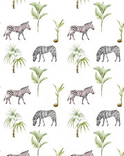 Zebra Palm Wallpaper Roll