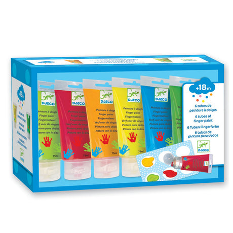 Djeco 6 finger paint tube's for little ones