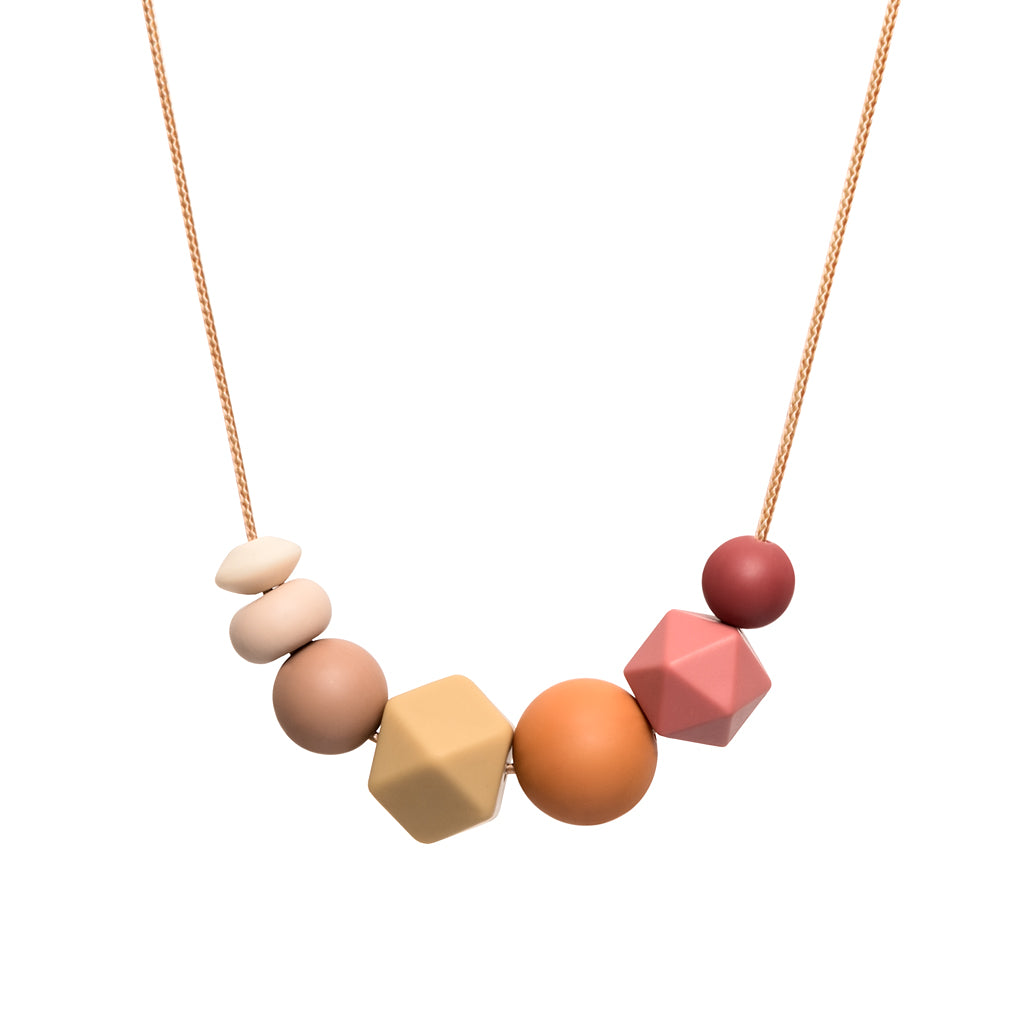 Teething Necklace - Muted Rainbow