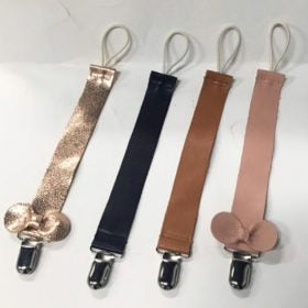 Soft Leather Soother Clip