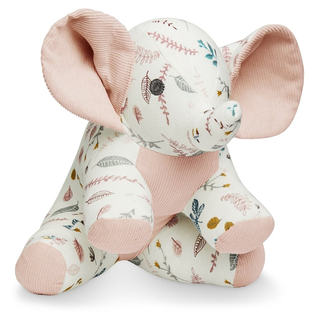 Elephant Soft Toy - Pressed Leaves Rose