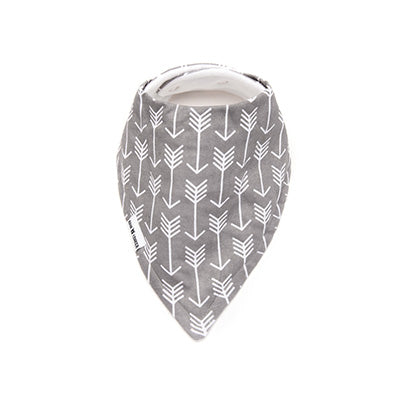 Grey Arrows Bandana Bib – 'Organic'