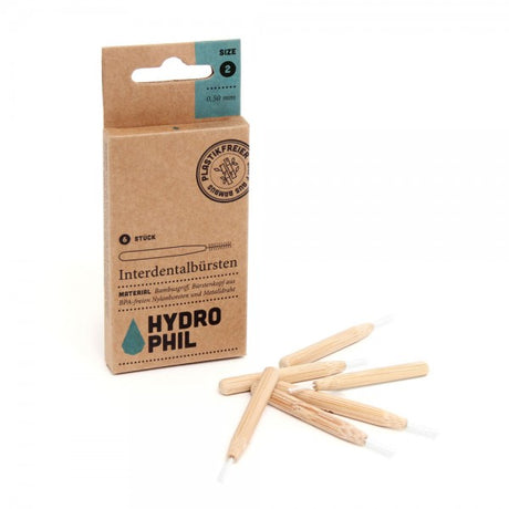 Sustainable interdental brushes made of bamboo - 6 pack - Size 2