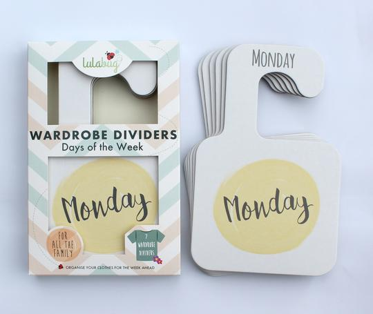Lulabug Wardrobe Dividers - Days of the Week