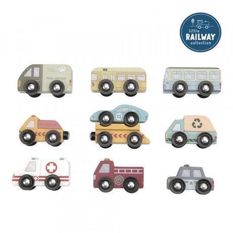 Little Dutch Vehicle Set- (can be used as standalone toy or as part of the Railway set)