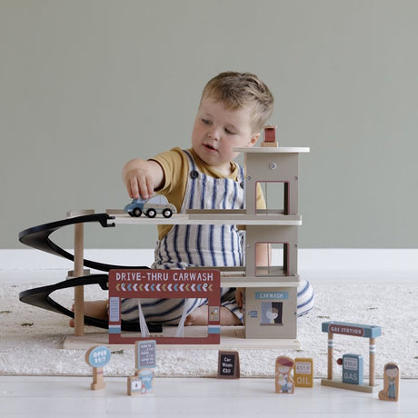 Wooden Toy Garage- Railway Extension Kit (can be used on it's own or with railway set)