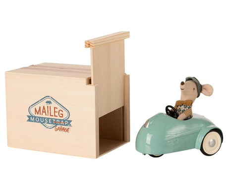 Maileg Car with Garage - Aqua