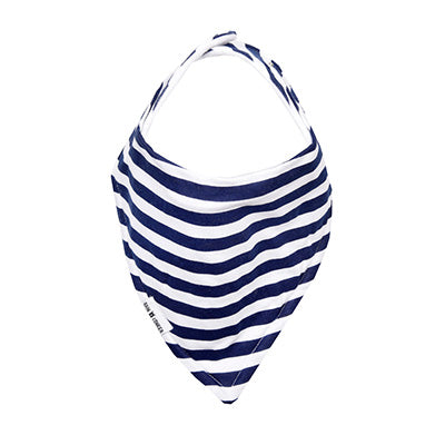 Navy Stripes Bandana Bib – 100% Organic