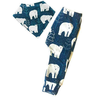 POLAR BEAR LEGGINGS & BIB SET