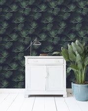 Palm Leaf Dark Green Wallpaper Roll