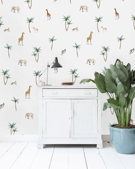 Savannah Palm TreeWallpaper - Custom Order