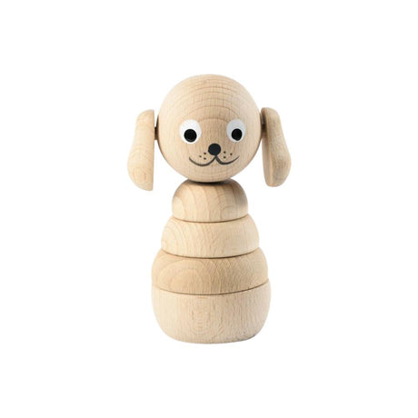 Wilbur - Wooden Dog Stacker