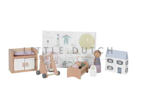 Doll's house extra furniture set- nursery